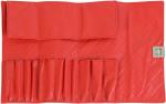 תיק  דמוי עור אדום למברשות איפור -12 מברשות