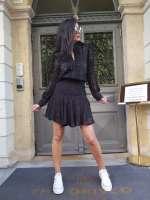 חליפת חצאית רומנטית