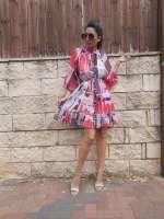 שמלת שיפון קומיקס עם שרולים
