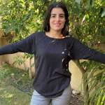 חולצת לורקס (סריג דק) נצנץ - שחורה