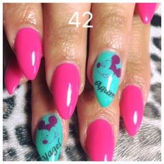 לק ג׳ל 42 pink ribbon