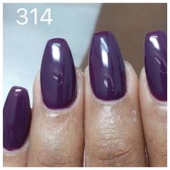 ג'ל לק 314 dark purple
