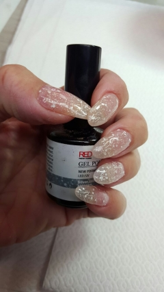 לק ג׳ל. 108 Silver glitter