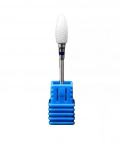 ראש קרמי יהלום להורדת ג׳ל לק ופינישים -פס כחול גריסה מדיום