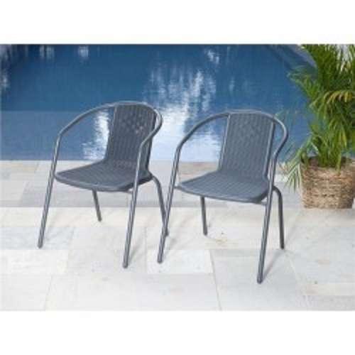 זוג כסאות לגינה ביסטרו אפור דגם 3434