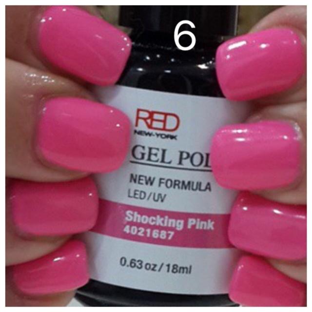 ג'ל לק 6 shocking pink