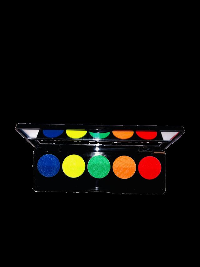 פלטת חמישה צבעי מים -זוהר באולטרה