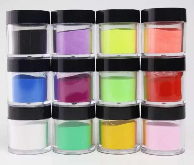 אבקות אקריל צבעוניות - קיים ב-10 צבעים