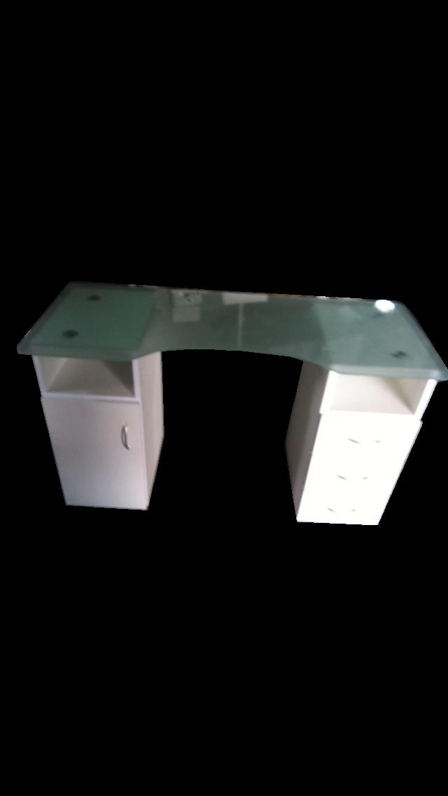 שולחן זכוכית כפול