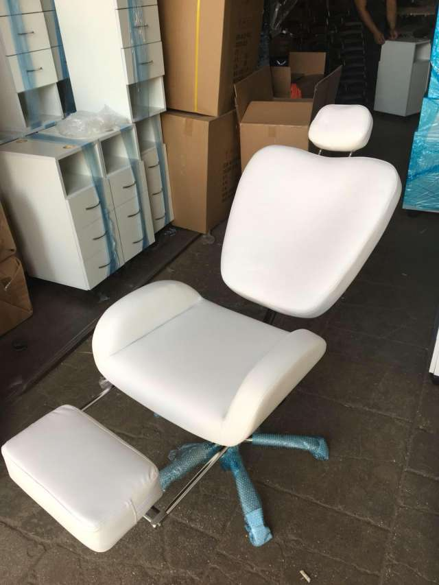 כסא לעיצוב גבות עם ריקליינר