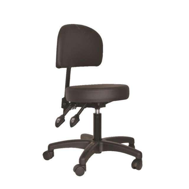 כסא פמאומטי לקוסמטיקאית משענת קצרה