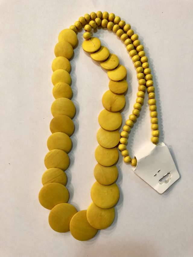 שרשרת מטבעות ארוכה בגוון צהוב