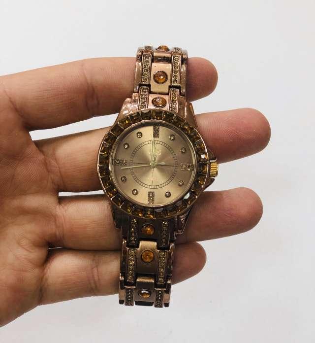 שעון מתכת ברונזה