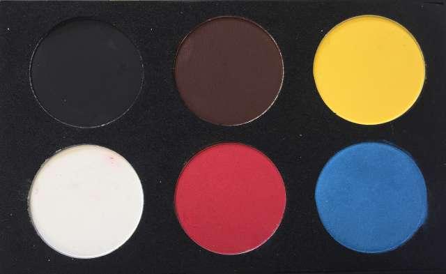 פלטת צבעי בסיס לציור פנים וגוף - צבעי מים