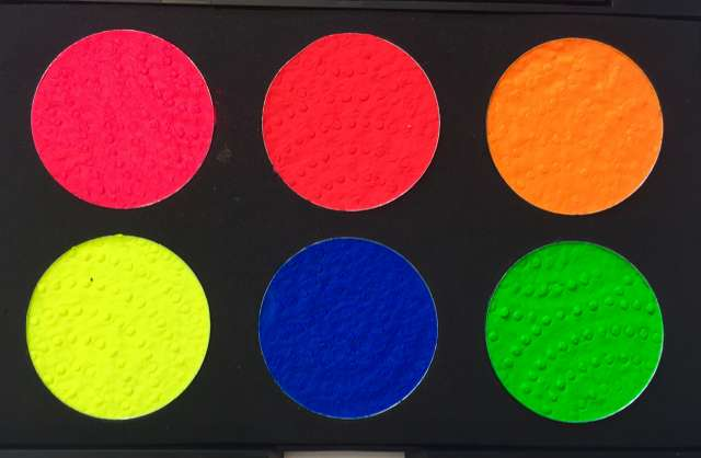 פלטת 6 צבעי מים זוהרים באולטרה
