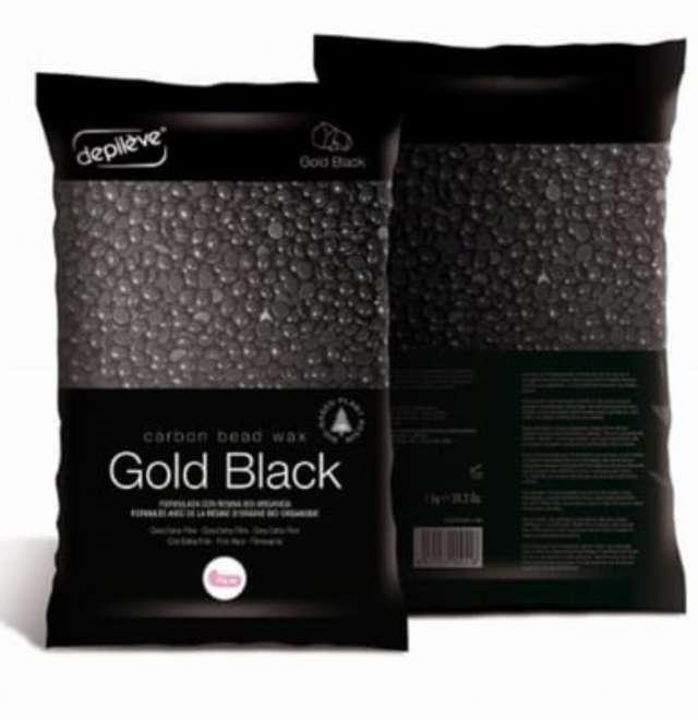 שעוות  מתקלפת גולד שחורה -1 קילו