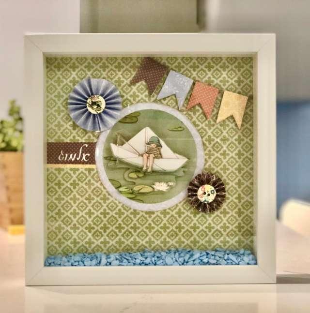 תמונה מעוצבת תלת מימיד בעבודת יד לעיצוב חדרי תינוקות וילדים