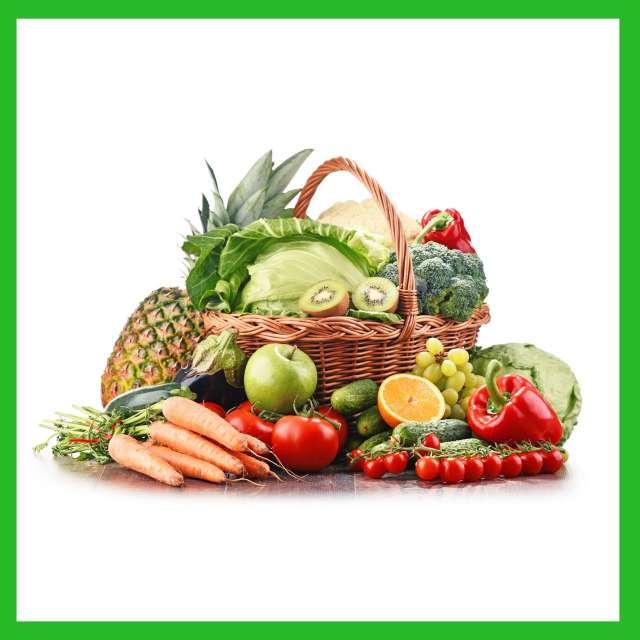 סלי ירקות ופירות