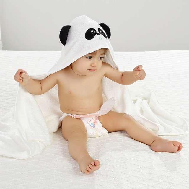 מגבת לתינוק/ילד עם קפוצ'ון  דגם פנדה