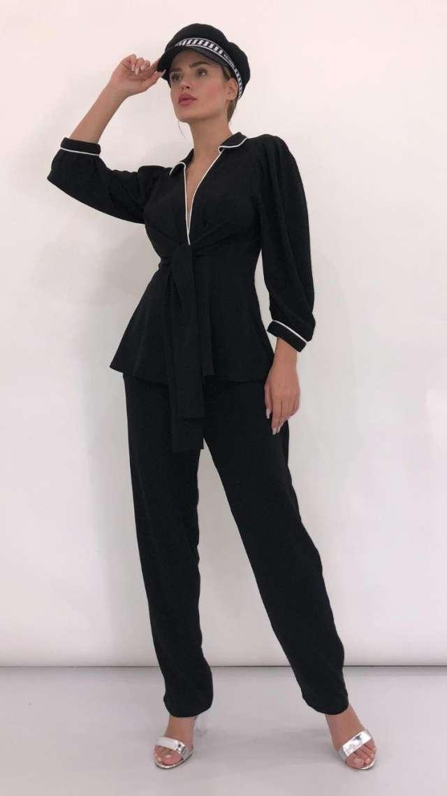 חליפת מכנס שחורה