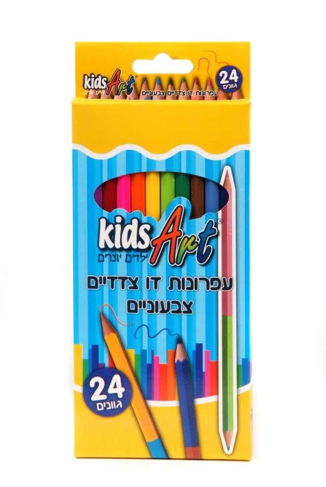 עיפרון צבעוני דו צדדי 24 גוונים