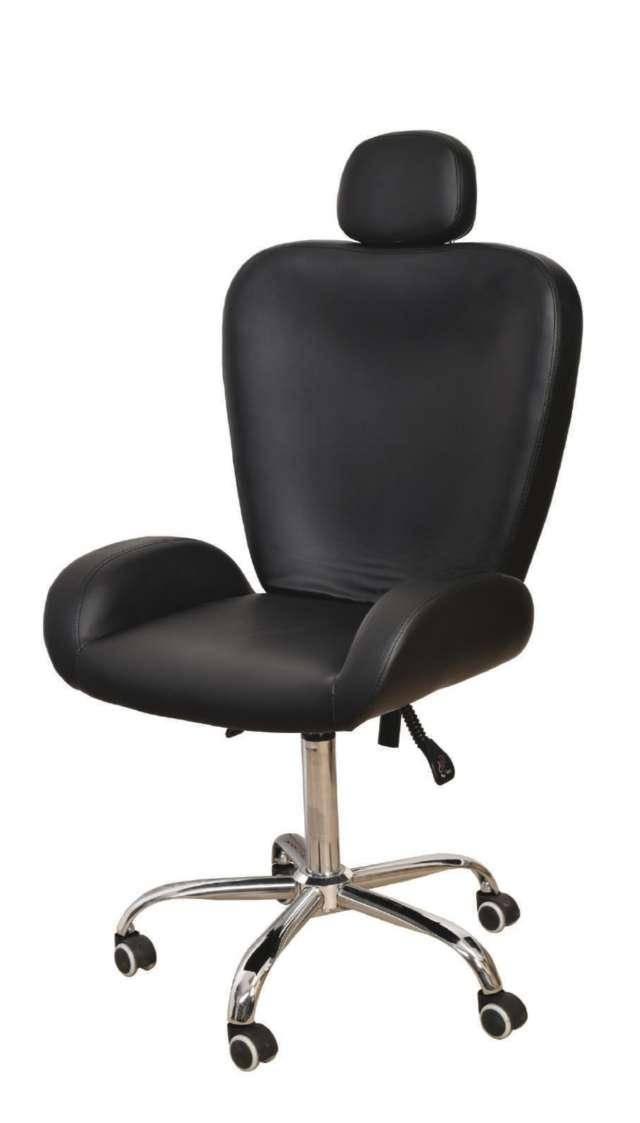 כסא לעיצוב גבות ואיפור בצבע שחור