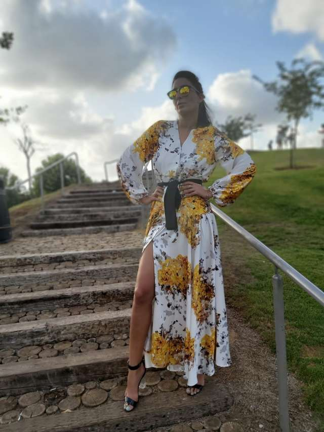 שמלת הדפסים