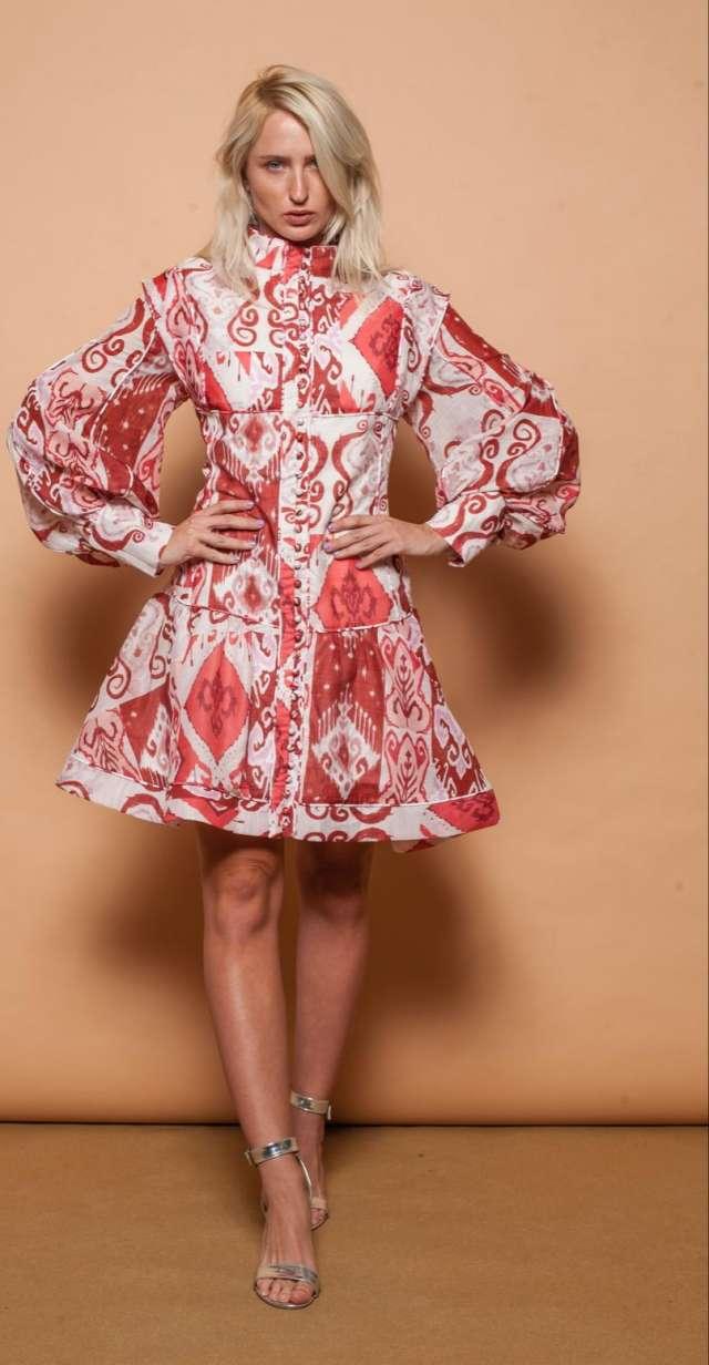 שמלת הדפסים אותנטית