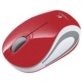 עכבר אלחוטי Logitech Mini M187 Retail - צבע אדום