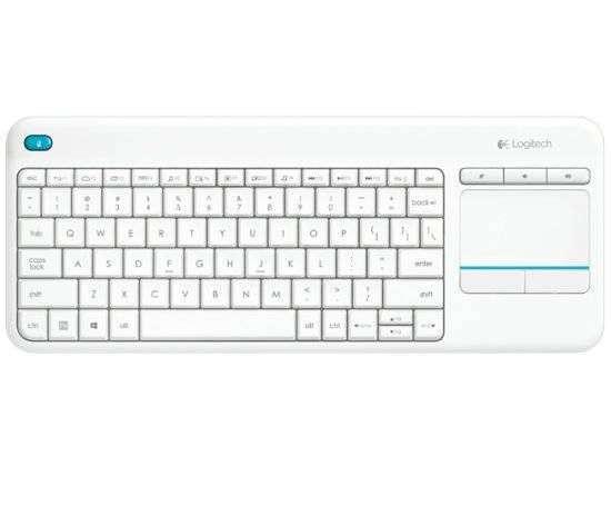 מקלדת אלחוטית Logitech Touch K400 Plus Retail בצבע לבן