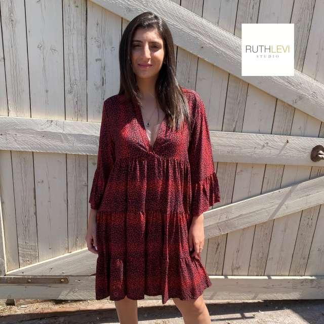 שמלה קצרה דגם אוברסייז