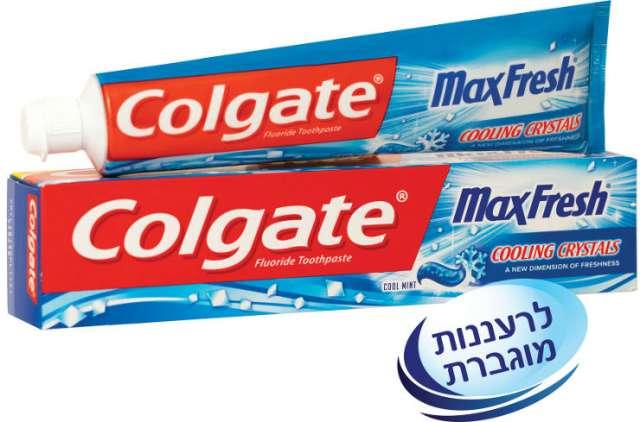 קולגייט משחת שיניים 'מקס פרש קולינג קריסטל  125ml