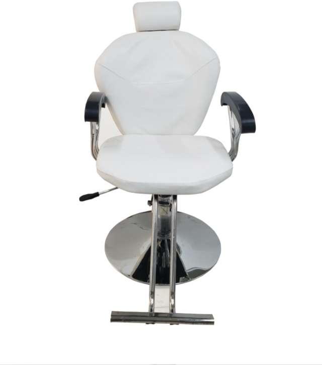 כסא לעיצוב גבות /איפור עם בסיס הידרואלי  בצבע לבן