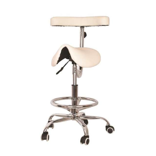 כסא אוכף משענת דקה