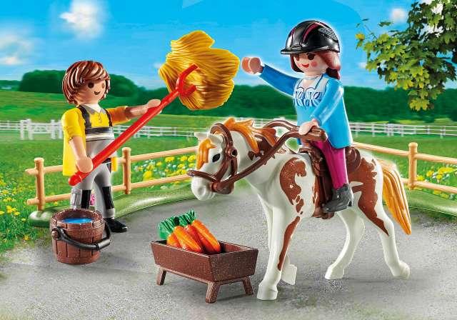 פליימוביל רכיבה על סוסים ערכת משחק למתחילים – 70505