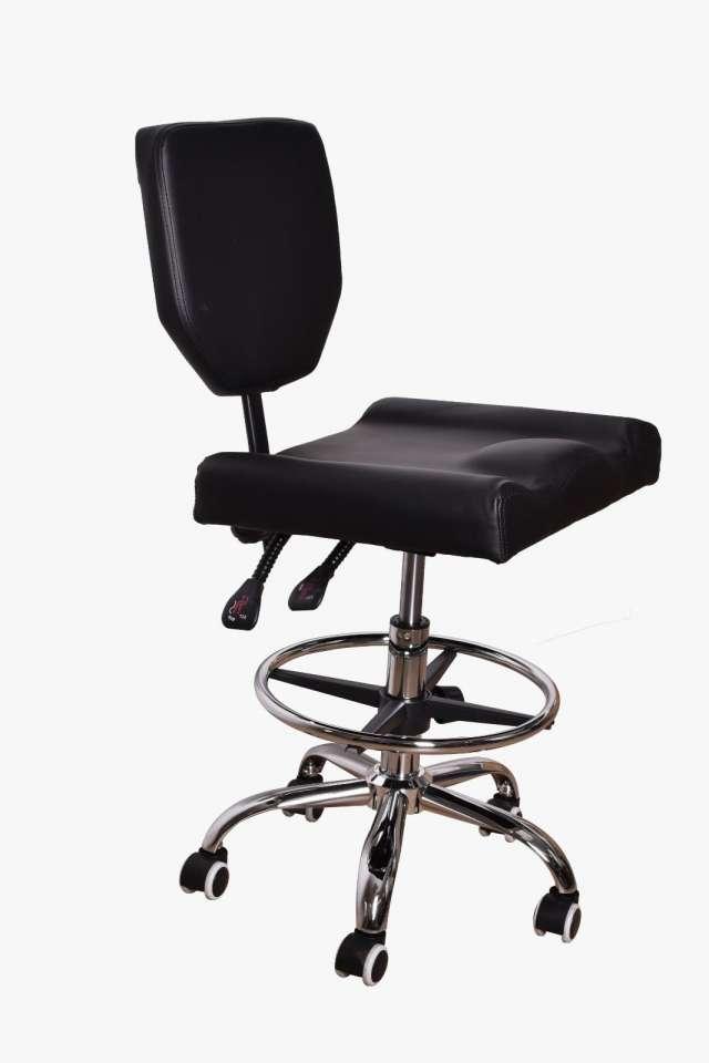 כסא פנאטמטי משענת מרובעת קטנה בצבע שחור